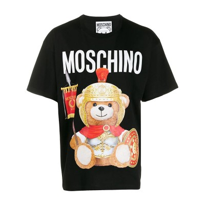 Moschino Roman Teddy Bear Women Short Sleeves T-Shirt Black
