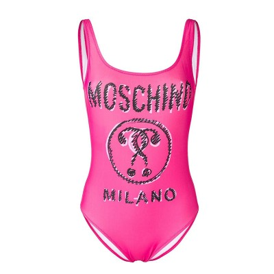 Moschino Scribble Question Women Swimsuit Rose