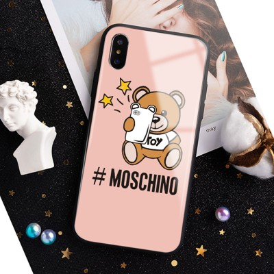 Moschino Selfie Teddy Bear iPhone Case Pink