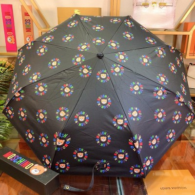 Moschino Teddy Bears Women Mini Umbrella Black