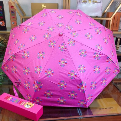 Moschino Teddy Bears Women Mini Umbrella Rose
