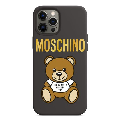 Moschino Toy Bear iPhone Case Black/Gold