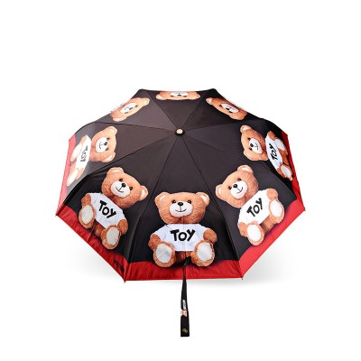 Moschino Toy Bears Women Mini Umbrella Black
