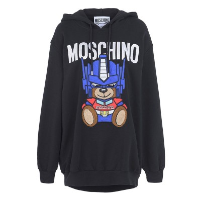 Moschino Transformer Bear Women Long Sleeves Sweatshirt Black