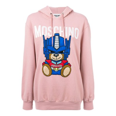 Moschino Transformer Bear Women Long Sleeves Sweatshirt Pink