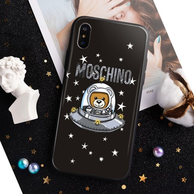Moschino Ufo Teddy iPhone Case Black