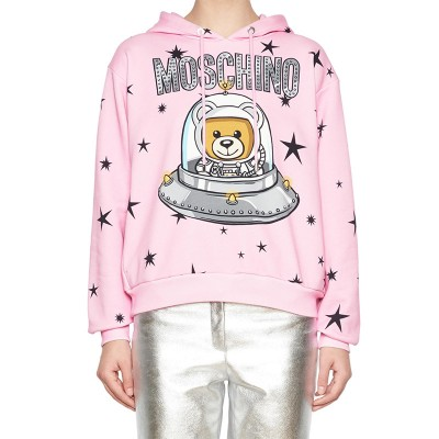 Moschino Ufo Teddy Women Long Sleeves Sweatshirt Pink