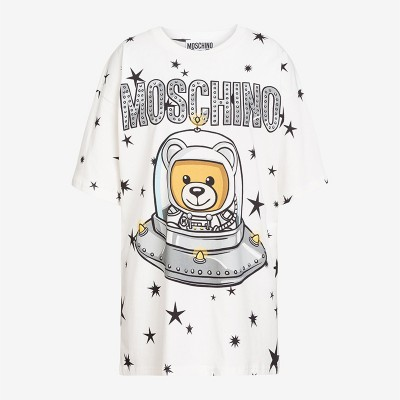 Moschino Ufo Teddy Women Short Sleeves T-Shirt White