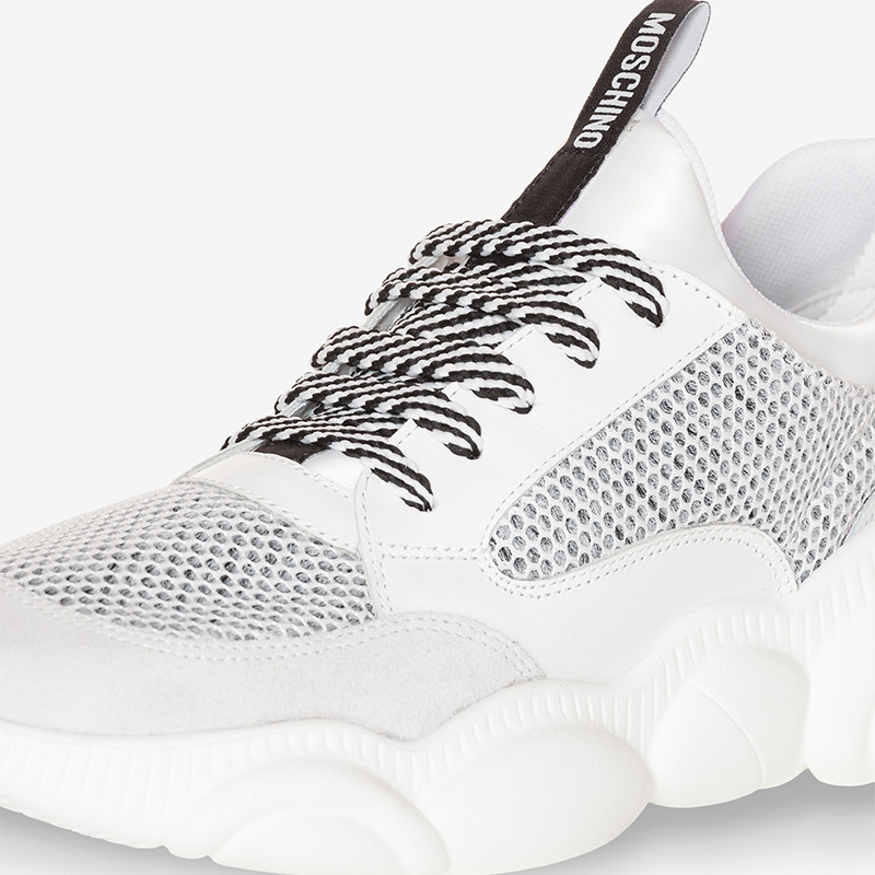 Moschino Teddy Sole Women Mesh Run Sneakers White